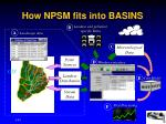 how npsm fits into basins