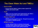 the clean water act and tmdls