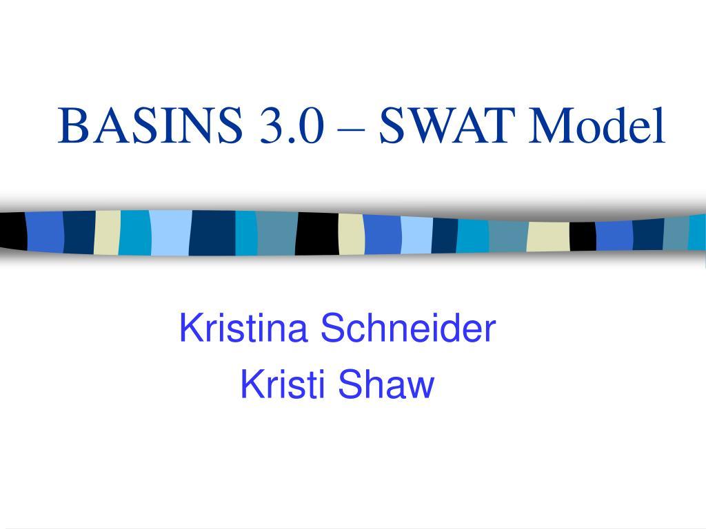 basins 3 0 swat model l.