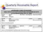quarterly receivable report