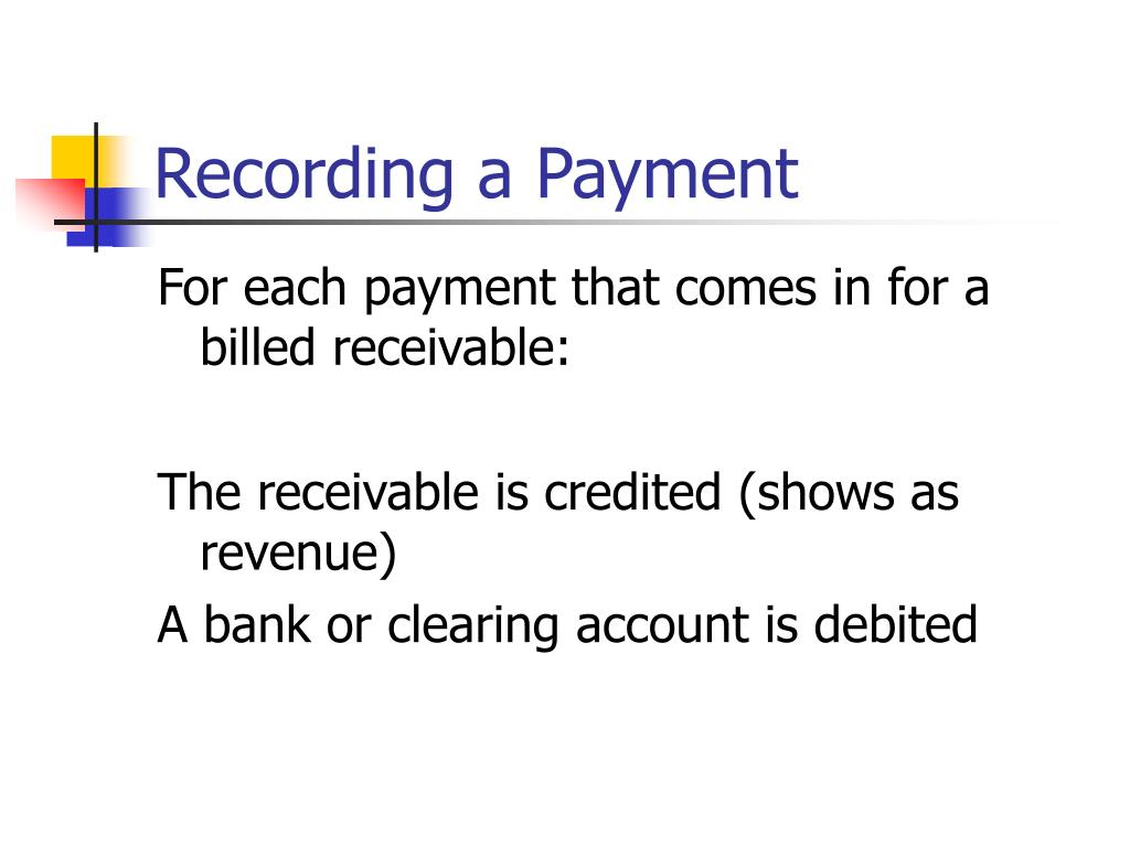 Recording a Payment