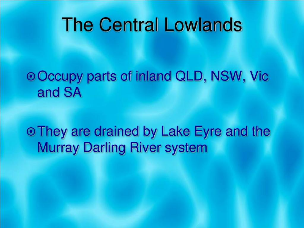 The Central Lowlands