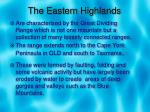 the eastern highlands