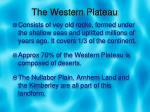 the western plateau