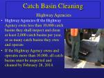 catch basin cleaning highway agencies