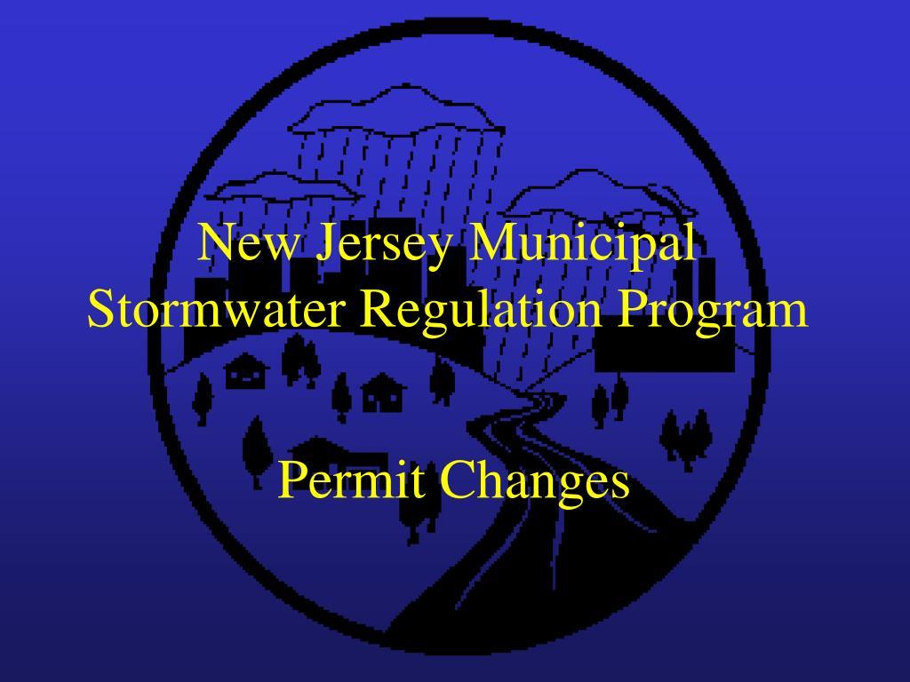 new jersey municipal stormwater regulation program l.