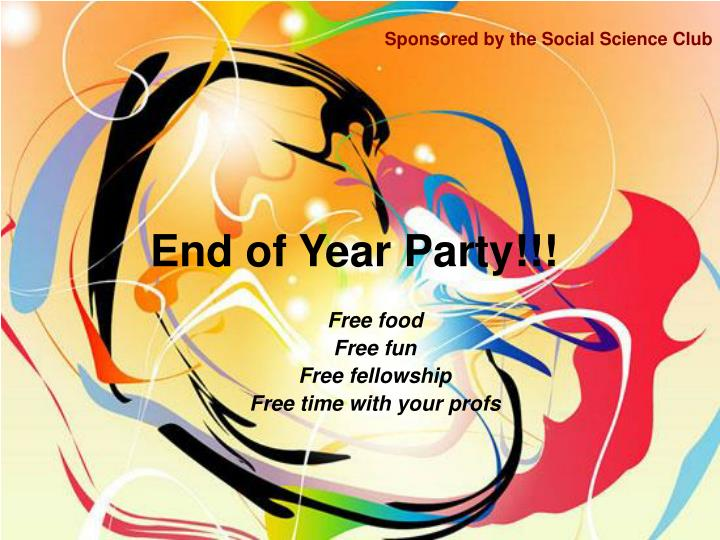 end of year party n.