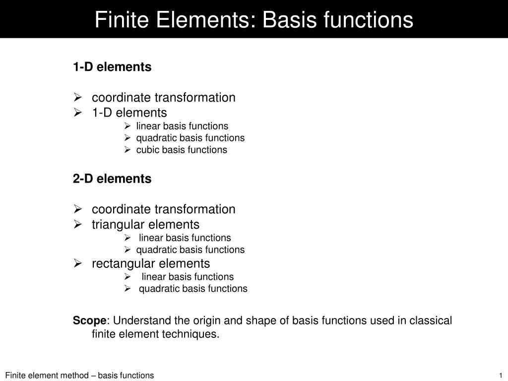 finite elements basis functions l.