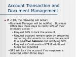 account transaction and document management25