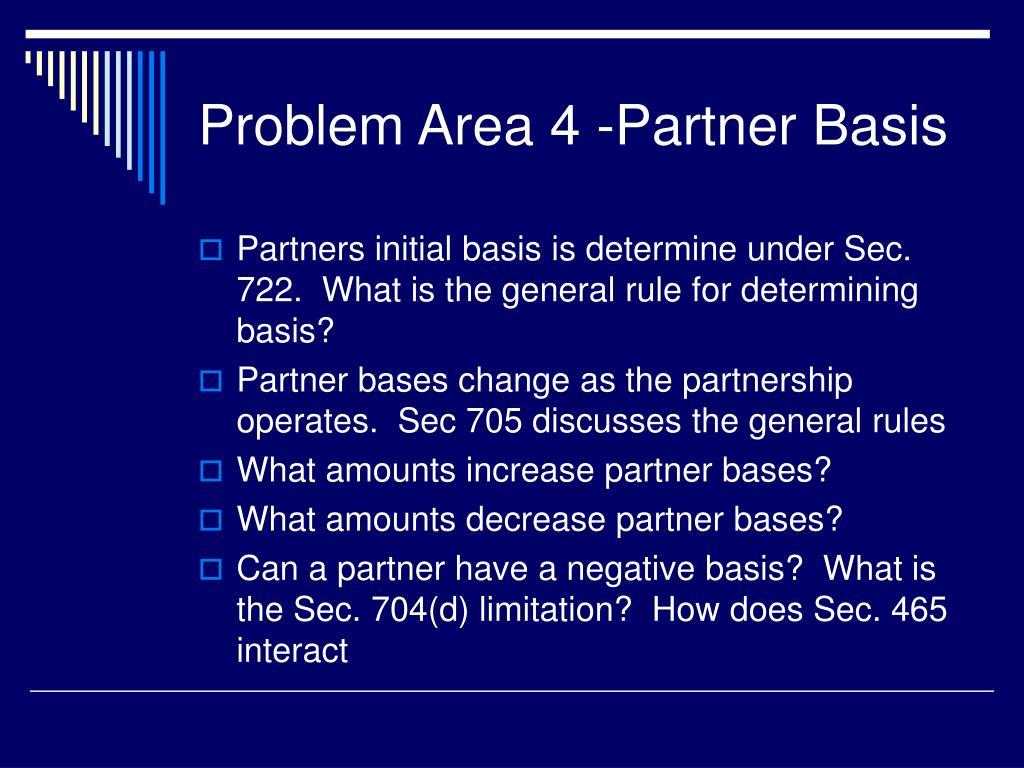 problem area 4 partner basis l.