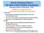 density functional theory the basis of most modern calculations1