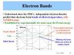 electron bands