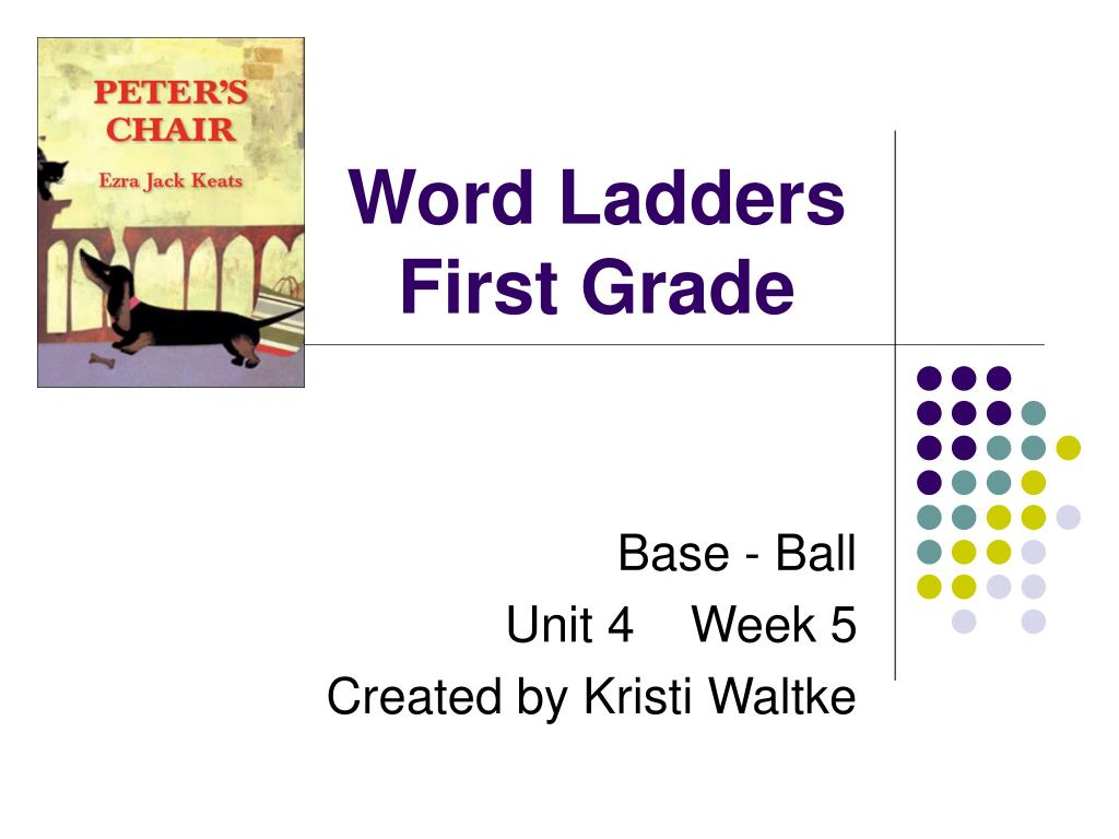 word ladders first grade l.