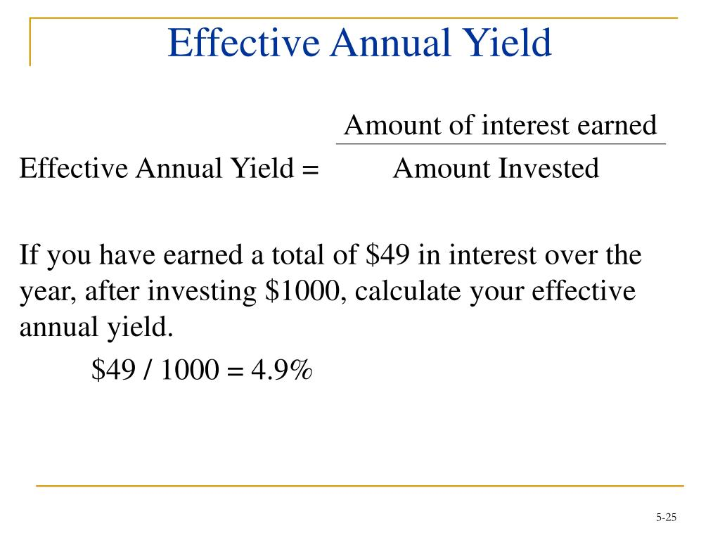 Effective Annual Yield