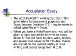 accuplacer essay