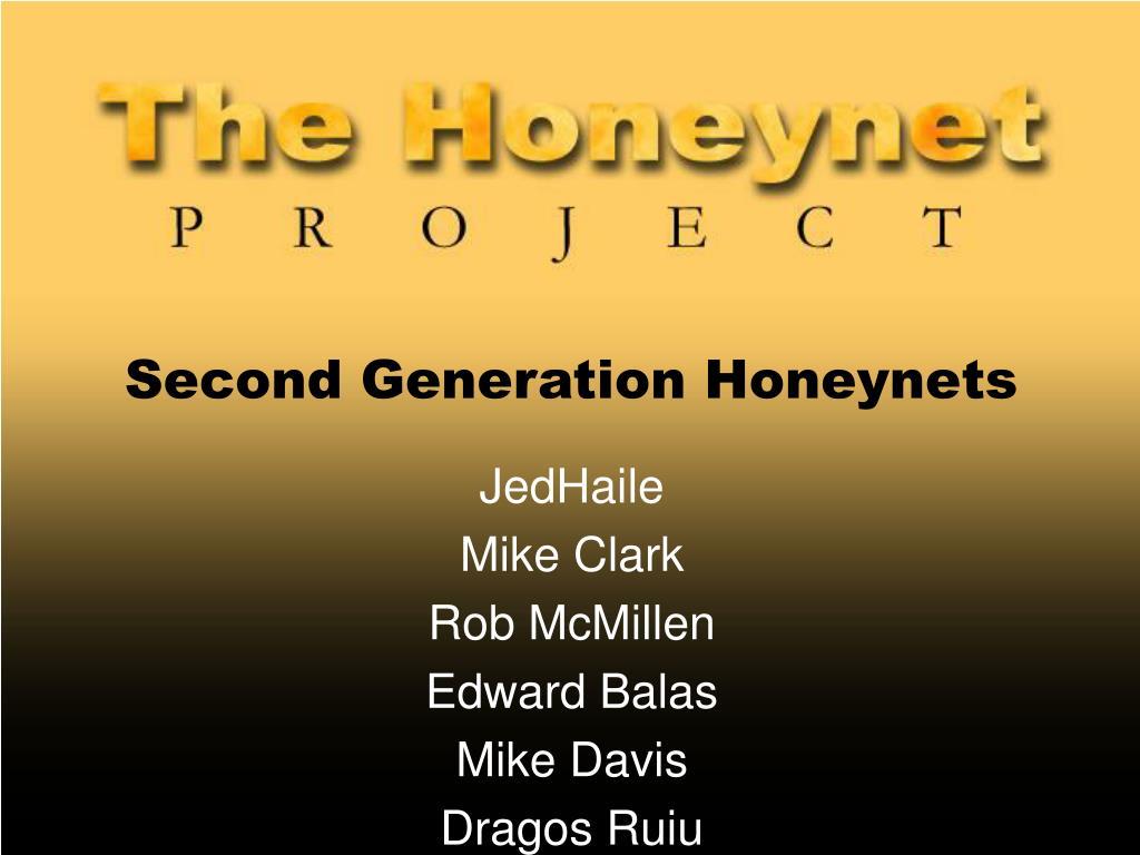 second generation honeynets l.