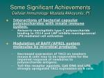 some significant achievements cellular immunology mustafa akkoyunlu pi