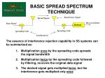 basic spread spectrum technique