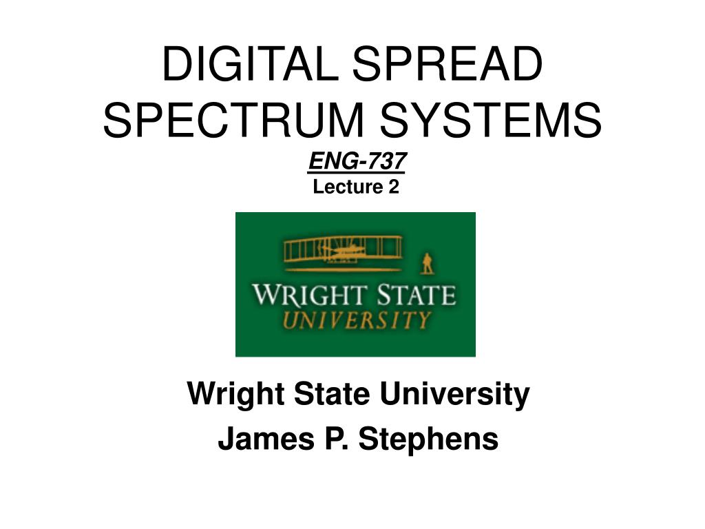 digital spread spectrum systems l.