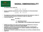 signal dimensionality