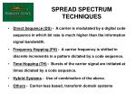 spread spectrum techniques