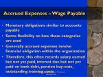 accrued expenses wage payable