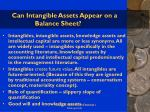 can intangible assets appear on a balance sheet62