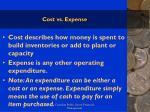 cost vs expense