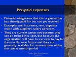 pre paid expenses