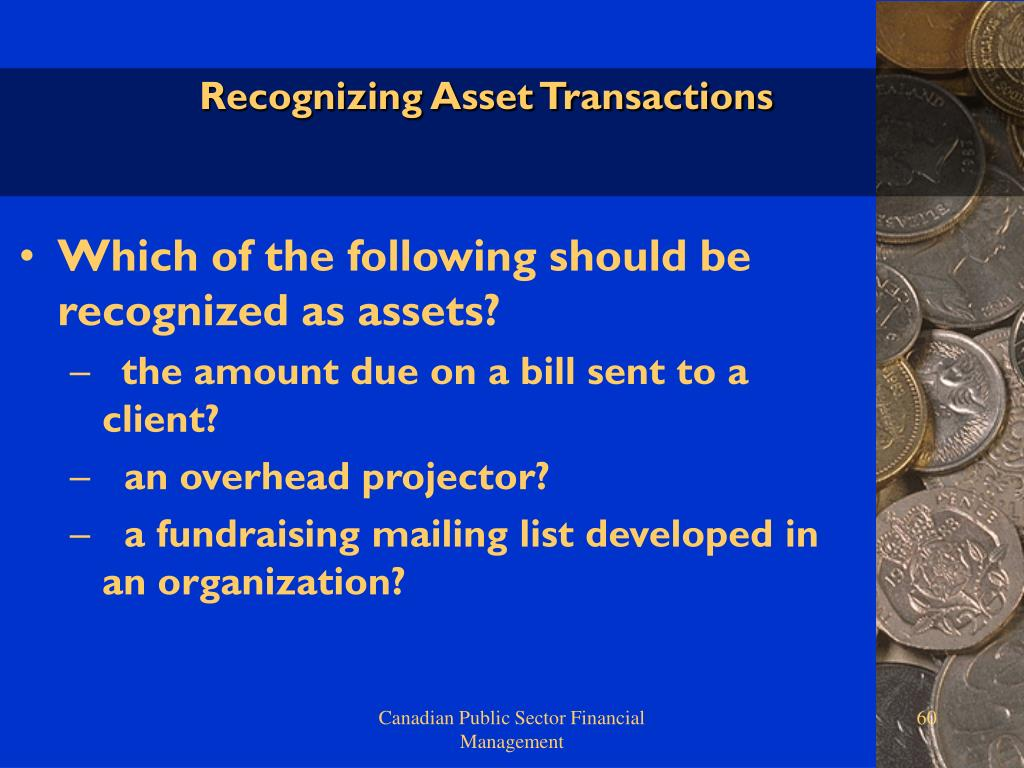 Recognizing Asset Transactions
