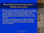 recording financial information debits and credits27