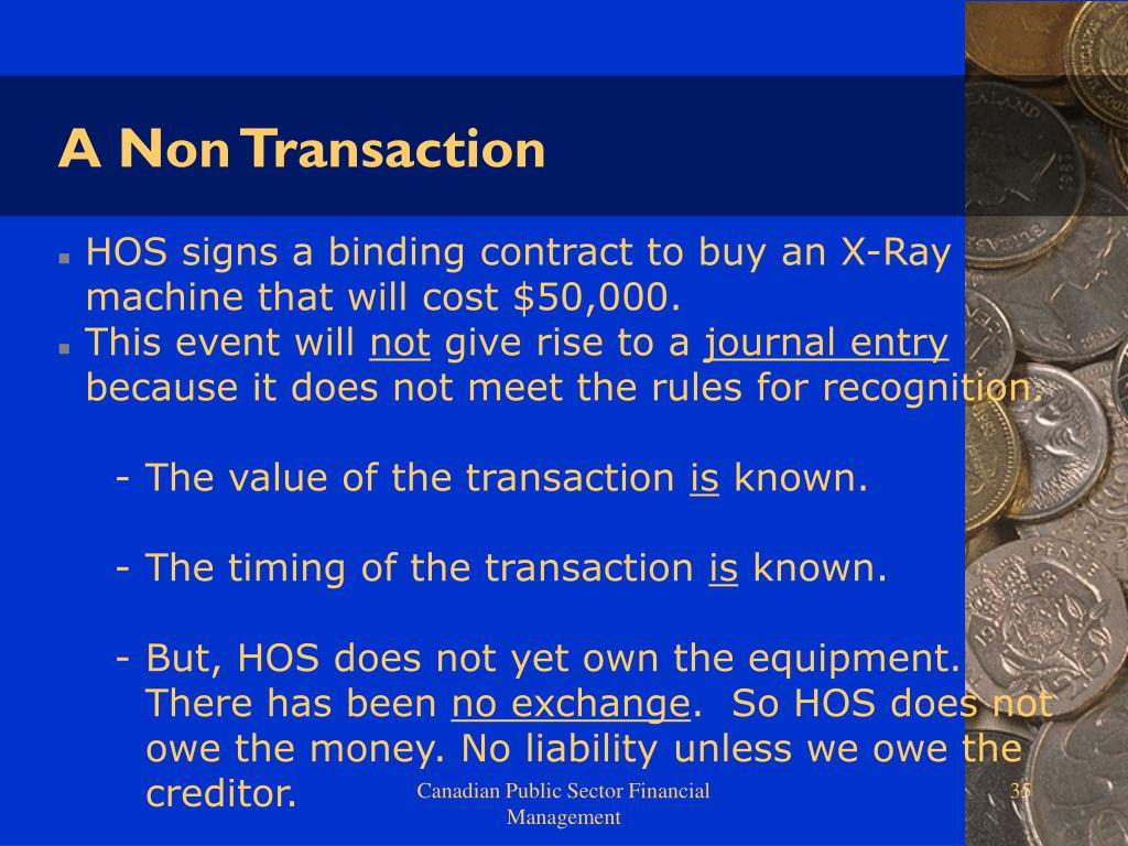 A Non Transaction