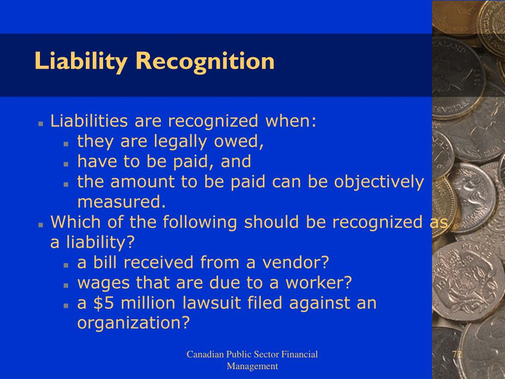 Liability Recognition