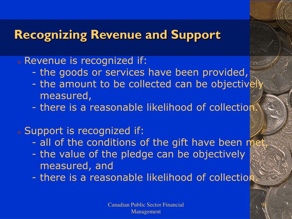 Recognizing Revenue and Support