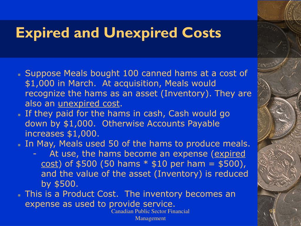 Expired and Unexpired Costs
