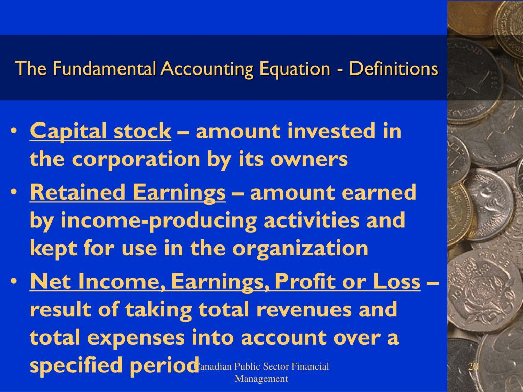 The Fundamental Accounting Equation - Definitions