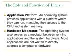 the role and function of linux4