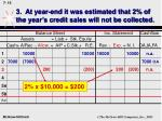 3 at year end it was estimated that 2 of the year s credit sales will not be collected