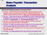 notes payable transaction analysis69
