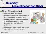 summary accounting for bad debts50