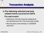 transaction analysis55