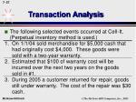 transaction analysis56