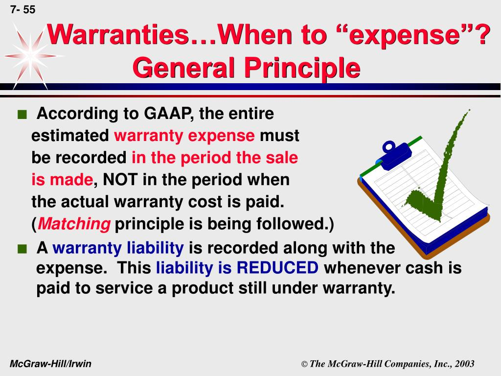 "Warranties…When to ""expense""?"