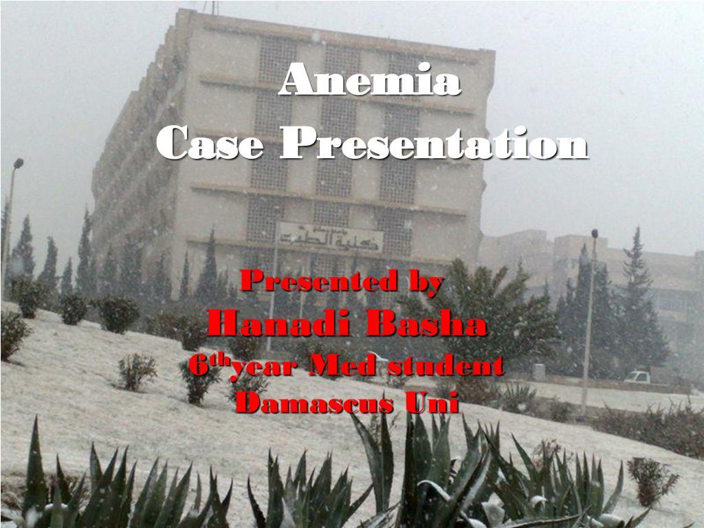 anemia case presentation l.