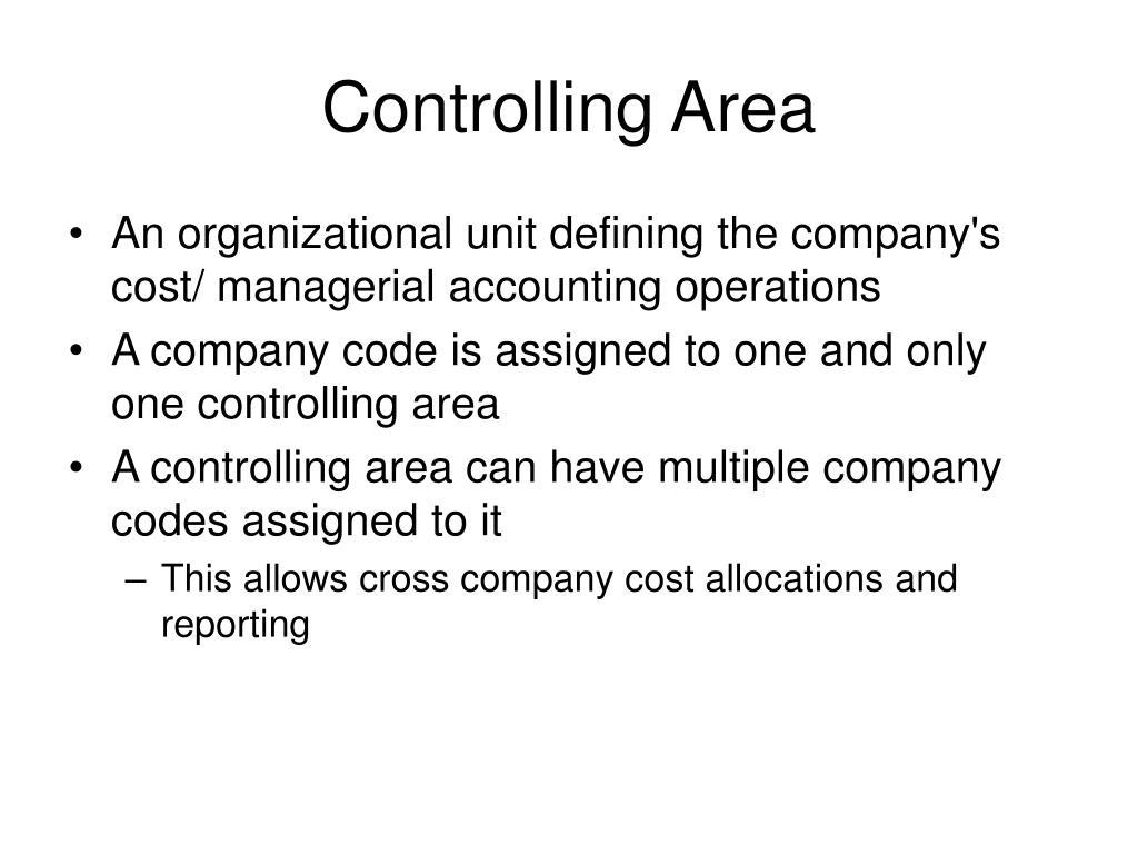 Controlling Area