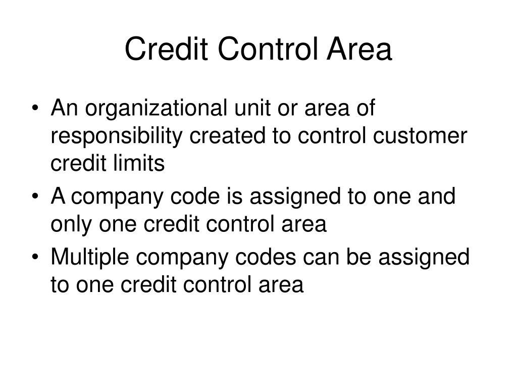 Credit Control Area