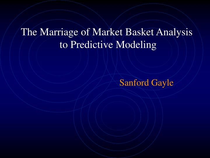 the marriage of market basket analysis to predictive modeling n.