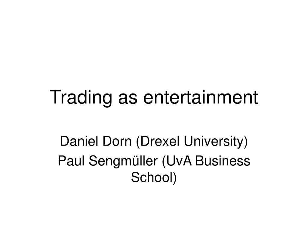 trading as entertainment l.