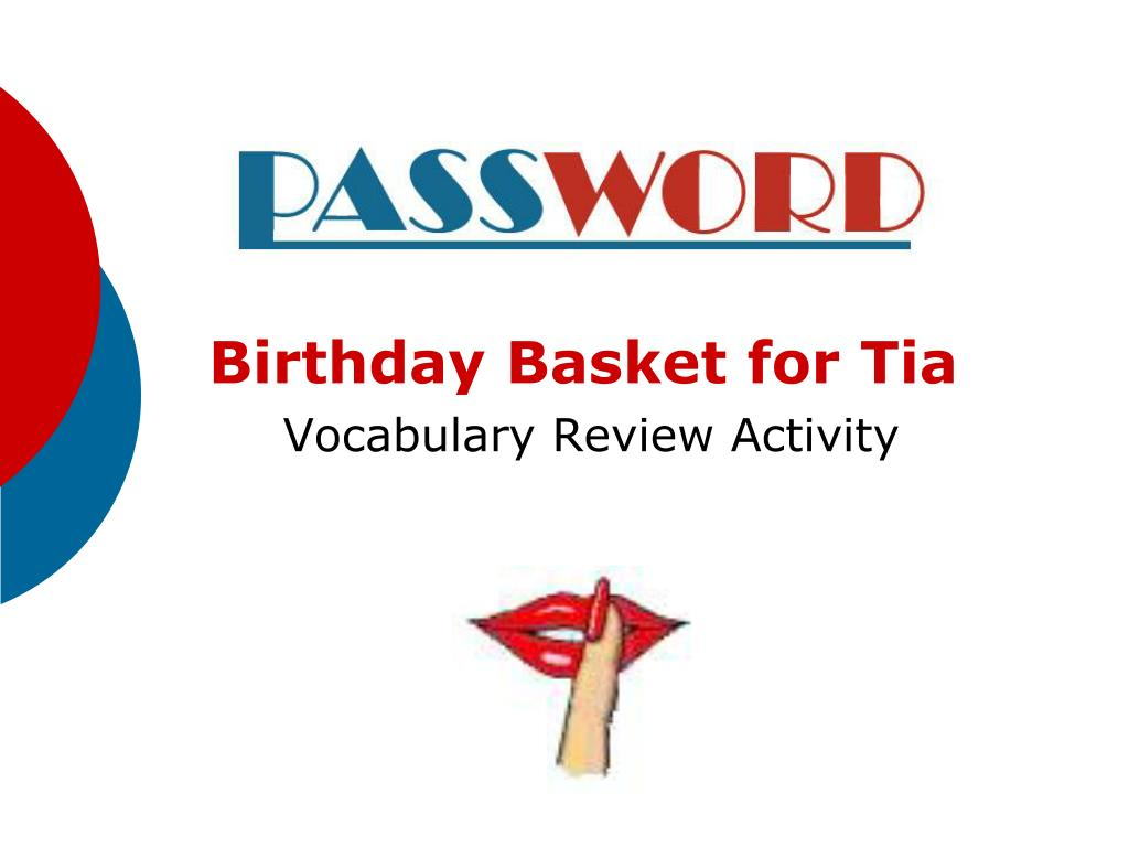 birthday basket for tia vocabulary review activity l.