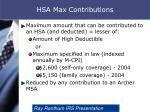 hsa max contributions